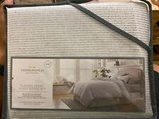 Threshold Flannel Duvet and Pillow Shams Cover Set | 3 pc | Gray | King| Stripe