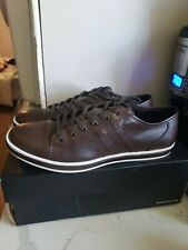 Kenneth Cole Men's Leather Fashion Brown Brand-Age Sneaker Casual Shoes Size 11