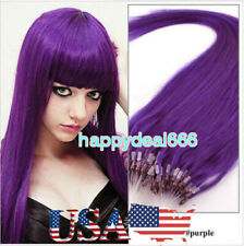 Micro Loop Ring Beads Tip Linked 100% Real Remy Human Hair Extensions 18inch45cm