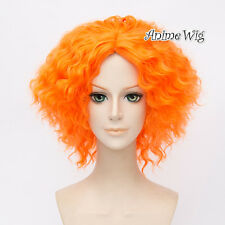 For Mad Hatter Orange Short 35CM Curly Hair Anime Fashion Cosplay Wig + Wig Cap