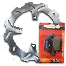 Kawasaki Rear Stainless Steel Brake Disc Rotor +Pads KX125 KX250 M/R (2003-2008)