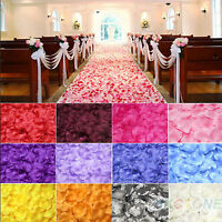 200/1000pcs Various Colors Silk Flower Rose Petals Wedding Party Decoration MA