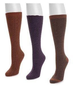 MUK LUKS Womens Tall Boot Socks.. 3 Pair Shoe Size 6-11.. NEW!!!