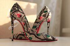 NEW CHRISTIAN LOUBOUTIN So Kate 120 Python Flower Multi Snake Heels Pump Shoe 38