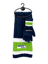 Seattle Seahawks Scarf & Glove Gift Set [NEW] NFL Hat Winter Cold Scarve