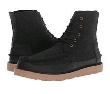 TOMS Men Searcher Herringbone / Leather Boots Black Size uk 7.5 eu 41