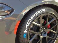 "MOPAR Permanent Tyre Stickers Decal 10x Tire Lettering 14""-24"""