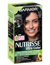 Garnier women black hair color creams ebay garnier nutrisse ultra color bl11 reflective jet blue black urmus Image collections
