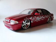 JADA Toys 1996 Chevy Impala SS Red 1:18 Scale Die Cast Model Car Missing Mirror