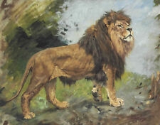 PAINTING HENRI ROUSSEAU THE REPAST OF THE LION 12X16 INCH ART PRINT HP2344