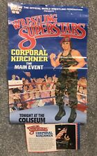 WWE WWF LJN Poster And Bio Card Of Corporal Kirchner
