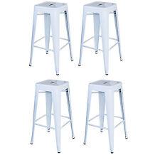 AmeriHome Bs030Wset Loft White 30 in. Metal Bar Stool 4 Piece