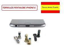 Conjunto Set 2 Tornillos Exteriores Negro Plata Oro Pentalobe para Iphone 6