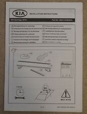 KIA SPORTAGE 2010 Onwards Roof Rails / Bars Fitting Instructions
