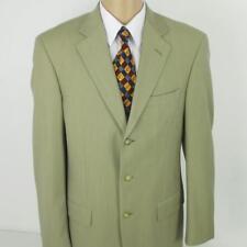 40 L Italia Uomo Beige Pure Wool Super 120s 2 Btn Mens Jacket Sport Coat Blazer