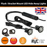 LED Hideaway Lights,12/24V Flush/Bracket, LightBar Recovery Strobe Beacons AMBER
