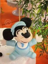 Any colour 9cm Mickey or Minnie Mouse Birthday Edible Fondant Cake Topper