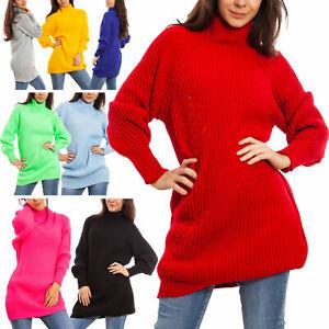 Maglione donna lungo maxi tricot pullover colletto miniabito TOOCOOL JL-9118
