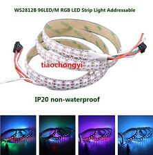 1M WS2812B WS2812 RGB LED Strip  96Led Individual Addressable 5V white PCB IP20