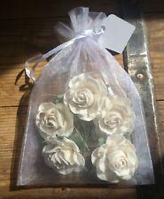 Ivory Paper Roses 4cm