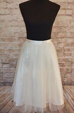 Modcloth Pointe of View skirt ivory tulle  NWT Sz S  ivory Marina $80 sold out