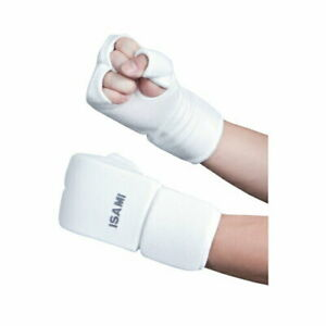 ISAMI Fist Supporter Color White Size M free shipping from JAPAN
