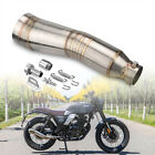 38-51mm Slip on Exhaust Muffler Pipe Stainless Steel For Universal Motorcycle
