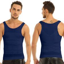 S Men's Abdomen Muscle Slimming Tummy Waist Vest Shirt Body Shaper T-shirts Top
