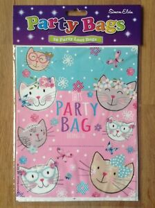 SE Cats Plastic Party Loot Bags - Pack of 10
