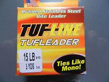 NEW;  Tuf Line Tufleader;  Braided SS Bite Leader;  15 Lb;  5 Yards;  SL85MT
