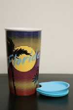 "NEW! Starbucks ""Florida"" Ceramic Travel Mug Cup Tumbler w Splash Guard Lid 12 Oz"