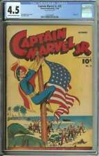 CAPTAIN MARVEL JR. #25 CGC 4.5 CR/OW PAGES // GOLDEN AGE FLAG COVER 1944