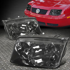 FOR 1999-2005 VW JETTA MK4 PAIR SMOKED HOUSING CLEAR LENS HEADLIGHT W/O FOG LAMP