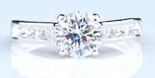 14KT White Gold With 3.05 Carat D-Color Round Cut Solitaire Women's Wedding Ring