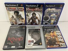 PS2 Retro Bundle Games x6 America's 10 Most Wanted Tekken Kengo Prince Of Persia