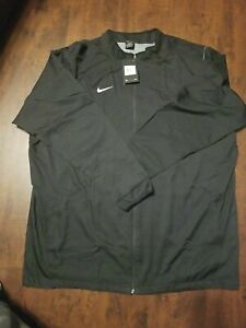 Nike Activewear Dry-Fit Mens Full Zip Jacket Black Fully Lined Sz 4XL-Tall