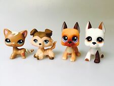 4pcs rare LPS cat dog Littlest Pet Shop toy old surprise gift lot Collie Dogs