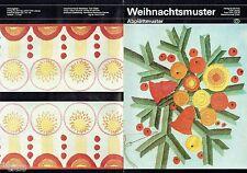 Sticken Weihnachten Abplättmuster Abbügelmuster Anleitung und Muster DDR 1981