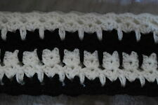 Cat & Kitten Infinity Scarf Soft Crochet Black & White