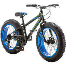 "20"" Boy's Mongoose Pug Fat Tire Mountain Bike, Black - ORIGINAL Top Quality -New"
