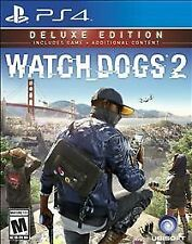Watch Dogs 2 Deluxe Edition PS4 Playstation 4 New Game Factory Sealed FREESHIP