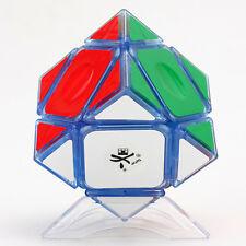 Dayan 3x3x3 Skewb Magic Cube Jigsaw Puzzle Intelligence Toys Transparent Blue