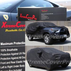 2020 2021 TOYOTA 4RUNNER BREATHABLE CAR COVER W/MIRROR POCKET BLACK