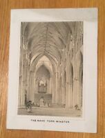 c1880 - The Nave York Minster. By E.B.