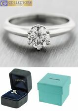 Genuine Tiffany & Co 0.62ct Diamond Solitaire Platinum Promise Engagement Ring