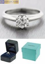 Genuine Tiffany & Co 0.62ct Diamond Solitaire Platinum Promise Engagement Ring