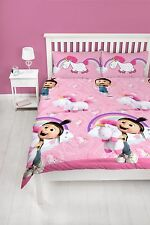 Despicable Me Daydream Unicorn Agnes Double Duvet Cover Set 2 Designs in 1