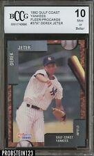 1992 Fleer Procards Gulf Coast Derek Jeter Yankees RC Rookie BCCG 10 CENTERED