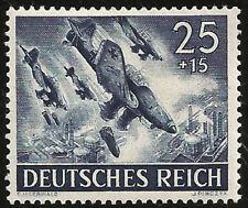 1943 WWII Nazi Germany Stuka Bomber Luftwaffe Germany Original War Mint Stamp