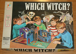 Rare 1971 WHICH WITCH Board Game Haunted House Milton Bradley Halloween COMPLETE